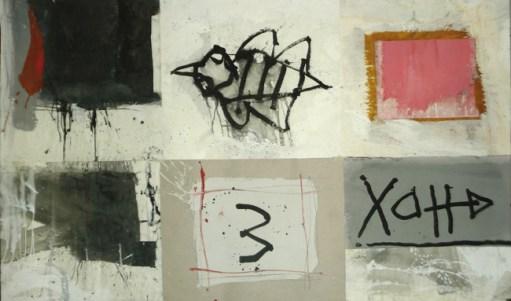 Vanni Spazzoli, Inner patterns, 2014, tecnica mista su carta intelata, cm 125x210