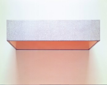 Donald Judd Untitled, 1966 galvanized metal, plexiglas 5 15/16 X 27 3/16 X 24 in. 15 x 69 x 61 cm Art © Judd Foundation, by SIAE 2014 © Sonnabend Collection, New York