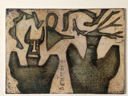 Mirco De Nicolò, burattini, 2014, Ceramica invetriata, 20x30 cm