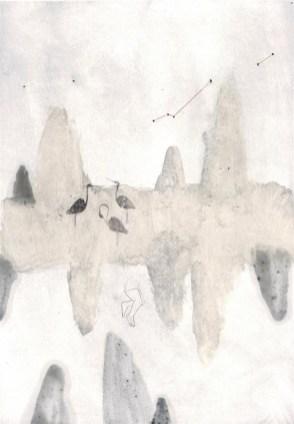 17- Elisa Bertaglia, Metamorphosis #2, 29,5x20,5 cm, olio, carboncino e grafite su carta, 2014