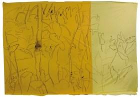 Giovanni Frangi: Russeau, 2014, 300x460cm, Pastelli grassi su tela