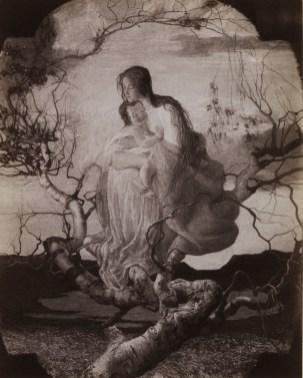 Da Giovanni Segantini, riproduzione di Dea Cristiana, L'angelo della vita, 1894, fotografia, 48x34 cm, Mart, Roverto