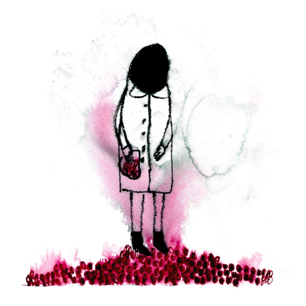 Elisa Muliere, Fare un mucchietto delle proprie radici, 2014, serigrafia