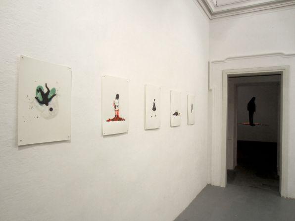 Elisa Muliere, Icaro deve cadere, veduta della mostra(2)