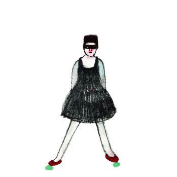 Elisa Muliere, Oggi non voglio cadere, 2014, serigrafia