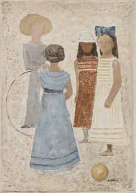 Massimo Campigli, Bambini, 1932, olio su tela, 75 x 53,5 cm, Collezione Giovanardi, Mart, Rovereto