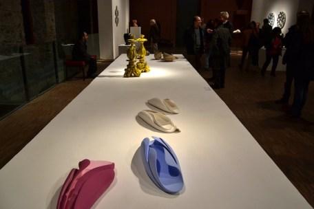 BACC | Biennale d'Arte Ceramica Contemporanea. La Ceramica Altrove. Edizione 2014 veduta degli allestimenti, Scuderie Aldobrandini di Frascati, Roma, in primo piano IGINIO IURILLI - in secondo piano GIUSEPPE DUCROT