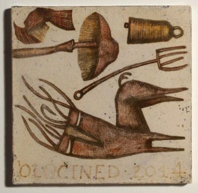 Mirco De Nicolò, Sketch 15, ceramica 20x20 cm