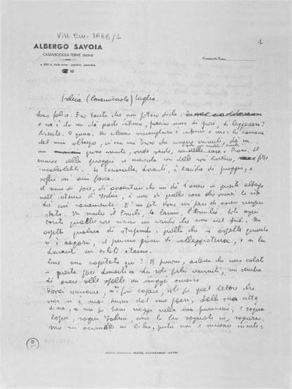 Albergo Savoia, manoscritto © 2005 Philippe Séclier