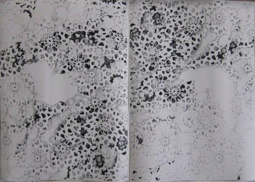 Elena El Asmar, Arioso Operoso, 2013-2014, fotocopie dal vero formato, dettaglio, ph. Luca Pancrazzi