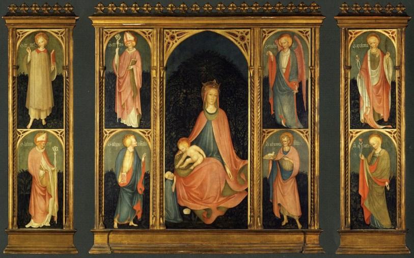 Maestro Paroto, Madonna col Bambino e Santi, tempera su tavola, Brescia, Fondazione CAB, Istituto di Cultura G. Folonari