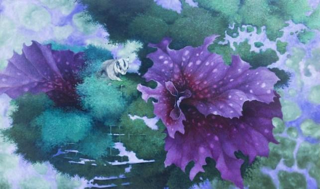 Carlo Cane, Mutabile, 2014, olio su tela applicata su tavola, 90x150 cm