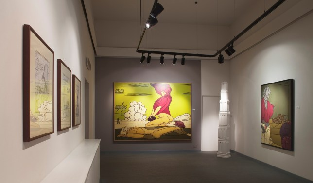 Valerio Adami. Ars combinatoria, veduta della mostra, Galleria Forni, Bologna