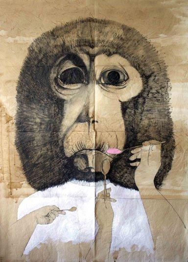 Cristina Gardumi, Gli adulti non esistono. Adults don't exist, 2014-2015, tecnica mista su carta velina + qr code technology, suono
