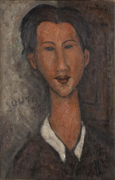 Amedeo Modigliani, Ritratto di Soutine, 1917, olio su tela, 55x35 cm, Collezione privata