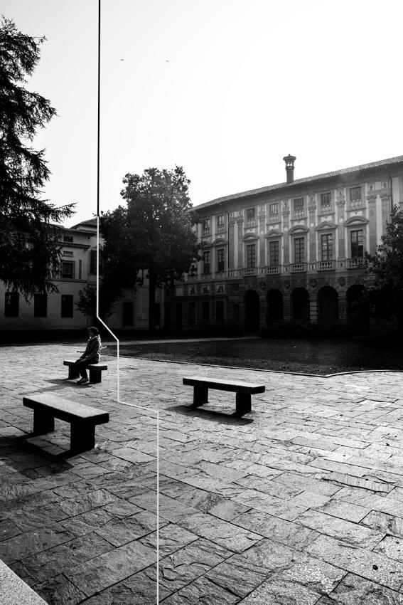 Beatrice BuzziBeatrice Buzzi, Pavia Immaginata, 2014, cm 30x40, Stampa a getto d'inchiostro su carta fotografica MATTE, Piazza Leonardo da Vinci 2