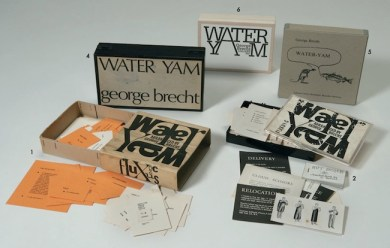 George Brecht, Water Yam, all the editions included in Bonotto's collection