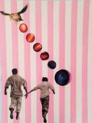 Matteo Sanna, Accross a starless sky, 2015, Collage, 30 x 40 cm