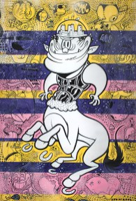 Art of Sool, Soolgittario, acrilico su tela, 2014, 70x120cm courtesy Spazio San Giorgio