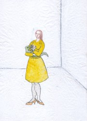 Tiziana Fusari, Abbecedario , Tecnica mista su carta modello gessata, 16x22 cm