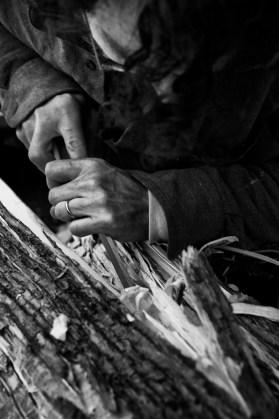 Mattia Bosco, Fiori violenti, work in progress Foto Luca Peruzzi