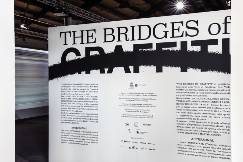 The Bridges of Graffiti, Arterminal - Terminal, Venezia (manifesto) Photo credits Andrea Bastoni