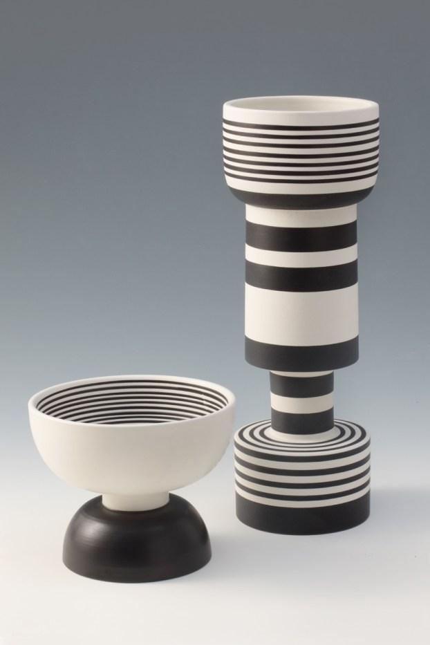 Ettore Sottsass, Vasi a rocchetto per Bitossi, 1957-59