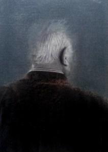Francesco Rinzivillo, People var.#1, 2014, tecnica mista su carta, 13x18 cm