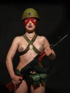 Marco Bolognesi, INTERSTELLAR UNITS, Battalion Bullet Proof, Private Margaret Higgins Stampa Lambda su Dibond e Plexiglas, 2014 157x118 cm