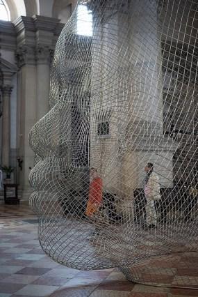 Jaume Plensa, Mist, 2014 (detail) Stainless steel 525 x 531 x 425 cm Photo: Jonty Wilde