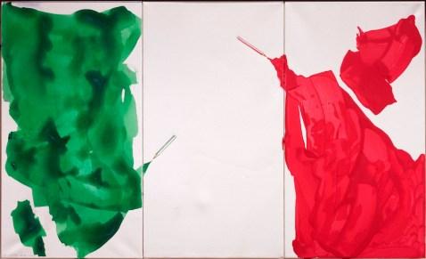 Giuliano Della Casa, Senza titolo, 2013, tecnica mista su tela, 66x110 cm