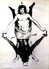 Alighiero Boetti, Shaman/Showman, 1968, stampa litografica, cm 70 x 50, Courtesy Collezione Composti della Ca' di Fra', Milano