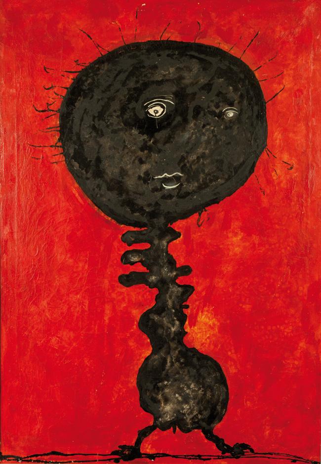 Enrico Baj, Quamisado II, 1951, olio e smalto su tela, cm 100x70
