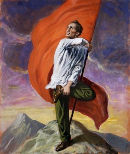Stefano Di Stasio, La bandiera più alta, 2011, tempera su carta, 60x50 cm