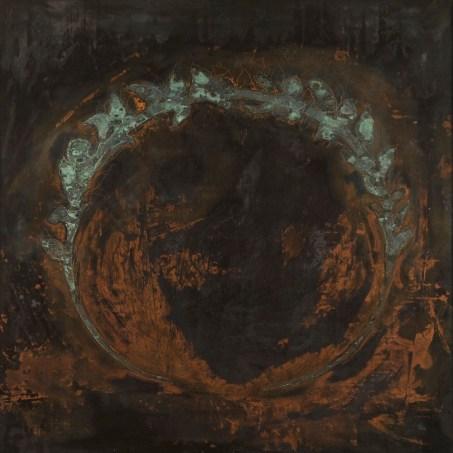 Omar Galliani, In rame, 1989, incisione su rame, acido nitrico in soluzione acquosa, 100x100 cm © Luca Trascinelli