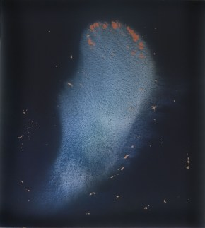 Vasco Bendini, S.T., 2005, tempera acrilica su tela, 200x180 cm Courtesy La Giarina, Verona