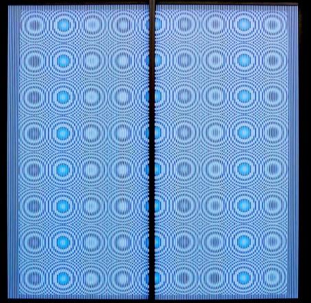 Alberto Biasi, Dinamica // Gocce, 1968, rilievo in PVC su tavola, 121x122x5 cm