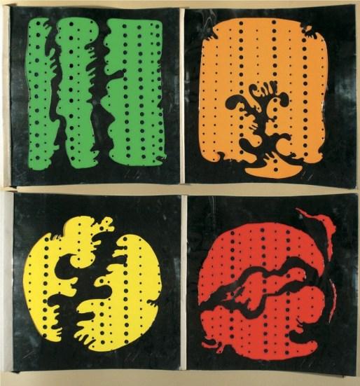 Salvatore Quasimodo e Lucio Fontana, 4 oggetti di Lucio Fontana e 2 poesie di Salvatore Quasimodo Milano, Sergio Tosi, 1965, Firenze, Biblioteca Nazionale Centrale