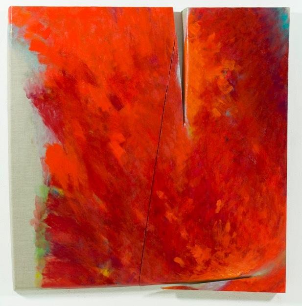 Tetsuro Shimizu, Impulso T-6, 2015, olio su tela, 120x118 cm