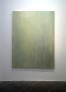 Eugenia Vanni, Ritratto di imprimitura in studio, di notte,olio su tela 150×200 cm, 2015