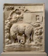 Rilievo: pecora con agnelli, già Collezione Grimani, fine I secolo a.C., marmo, altezza 95 cm, larghezza 81 c, Kunsthistorisches Museum, Vienna (inv. 604)