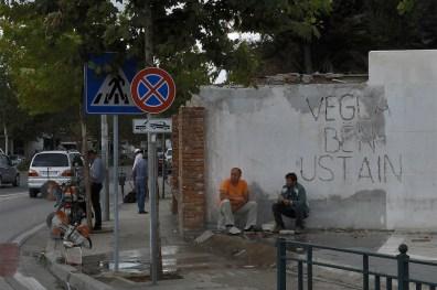 Fabrizio Bellomo, Vegla Ben Ustain, 2015, installazione pubblica, dimensioni ambientali, Tirana