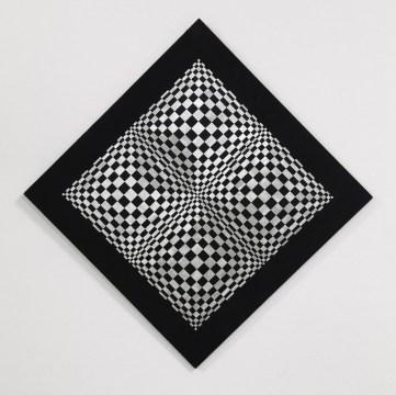 Dadamaino, Oggetto ottico dinamico, 1962, alluminio su tavola, 127x127 cm Courtesy A arte Invernizzi, Milano Foto Bruno Bani, Milano