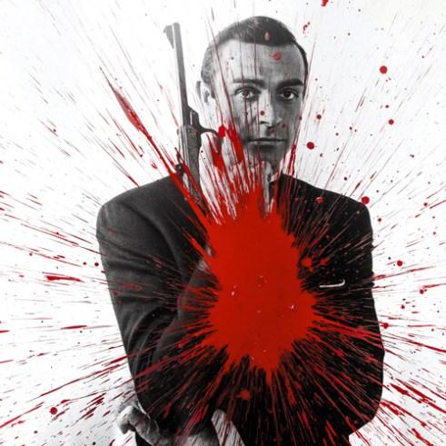 Julian T, Impact 007, dalla serie Fame, 2015, acrilico su PVC, 100x100 cm