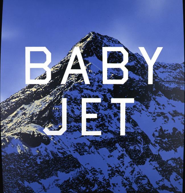 Ed Ruscha Baby Jet, 1998 Acrilico su tela / Acrylic on canvas Collezione dell'artista / Collection of the artist