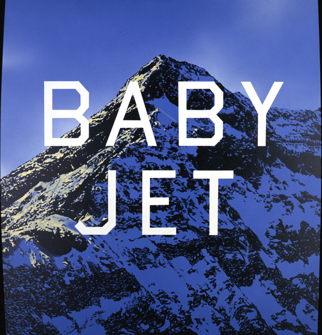 Ed Ruscha Baby Jet, 1998 Acrilico su tela / Acrylic on canvas Collezione dell'artista / Collection of the artist