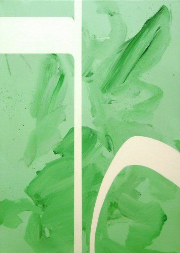 Giulio Zanet, Minimal experiments, 2014, smalto e acrilico su tela, 70x50 cm