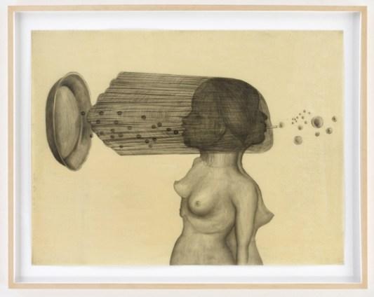 Sandra Vasquez de la Horra, De perlas y Burbujas, 2014, graphite on paper, wax, 81.5x61cm