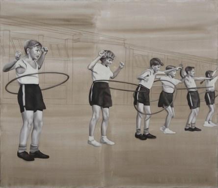 Barbara Nahamd, Hoops, 2013, 130x150 cm