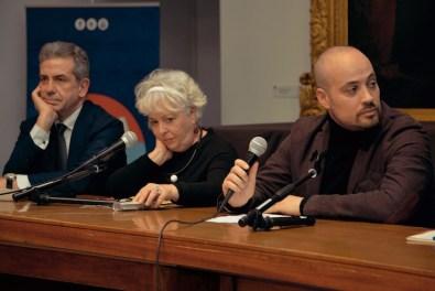 Il capitale culturale: sfida per un nuovo Mezzogiorno, il tavolo dei relatori con Pierpaolo Forte, Igina Di Napoli e Leandro Pisano, Museo del Sannio, Benevento